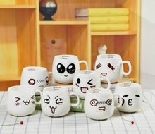 8 Styles Cute Face Ceramic Cup Cartoon Coffee Milk Tea Mugs Breakfast Cups Novetly Gifts 1 pc(China)