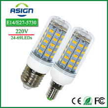 E27 Bulbs Corn Led Lights SMD5730 220V 24 36 48 56 69leds E14 Led Corn Bulb Lamps LED Candle Spotlight Indoor Lighting