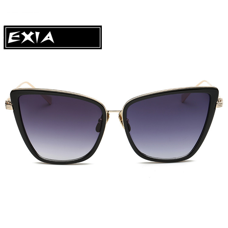 Cat Eye Glasses Grey Gradient Lenses Fashion Sunglasses for Women EXIA OPTICAL KD-0734 Series<br><br>Aliexpress