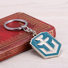 Blue New Arrival World of Warships Game Logo Metal Keychains For Fans Game Series Key Rings Llaveros Wholesale & Retail