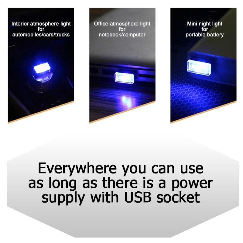 CNSUNNYLIGHT Car LED Atmosphere Lights With USB Sockets Decorative lights Interior Light Car Foot Lamp Universal Play and Plug (3)