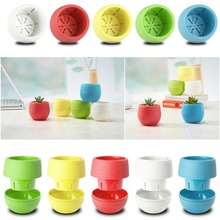 Mini Colorful Plastic Flower Planter Pots Home Office Desktop Garden Decor