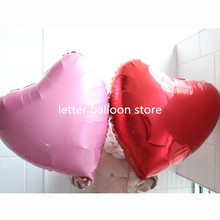 5pcs  large 75cm love balloon wedding balloon 5pcs/lot 30 inch red heart pink heart foil balloon for Valentine's Day decoratio