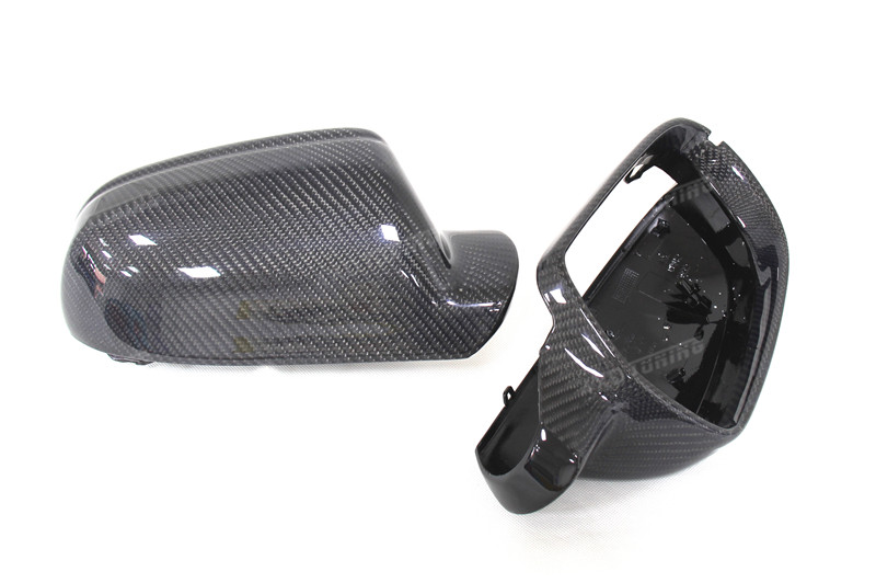 for Audi A4 B8.5 A5 S5 RS5 Carbon Fiber Mirror Cover Rear View Without Lane Assit 2010 2011 2012 2013 2014 2015 (11)