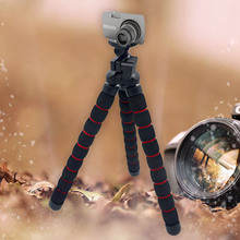 Gosear Medium Flexible Camera Tripod Para Monopod Statief Trepied with Universal Mount Leg Mini Tripods for Video Cameras Holder