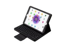 For ipad 2017 9.7 A1822/1823 Detachable Wireless Bluetooth Keyboard leather ROCK pu leather Cover Protective Bluetooth Keyboard(China)