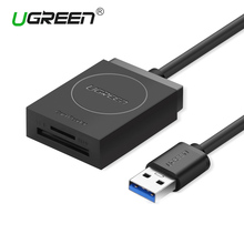 Ugreen SD Card Reader Super Speed USB 3.0 Micro SD TF Memory Card Reader Max Support 256GB for MacBook Laptop Computer