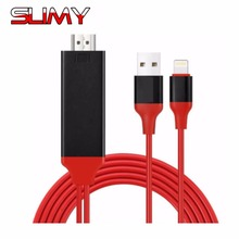 Slimy Wire TV Stick HDMI Cable USB Screen Mirroring TV Dongle 1080P for iphone6s iphone 6s plus iphone7 iphone 7 plus ipad(China)