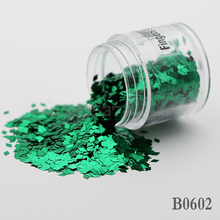 2017 diamond False Nails Toes decorative sequins DIY dark green Shine metal mirror texture 3D Slice canned 2mm B0602(China)