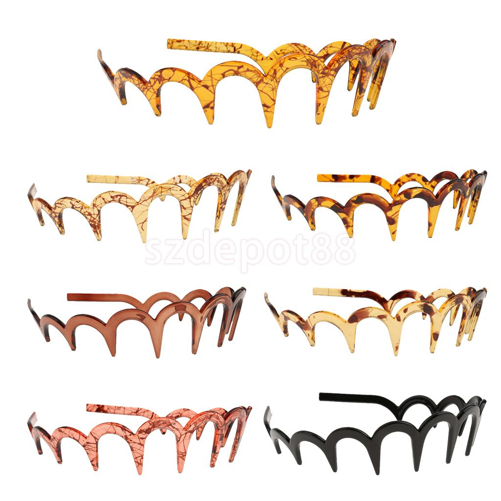 New Resin Zigzag Headband Comb Sharks Tooth Alice Band Unisex Sports Hair Comb
