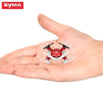 Venta caliente Syma X12S 4CH 6-Axis Gyro Helicóptero Drones Quadcopter Mini Drone sin Cámara de Interior Juguetes, Verde, Color rojo