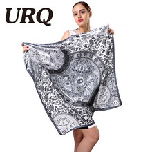 brand designer star winter silk scarf square satin girl cape fashionable scarves lady scarf women shawl 2016 HIGH quality 90*90(China)