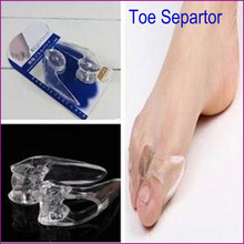 New 2017 Transparent Silicone Toe Separator Gel Separators Stretchers Bunion Protector Straightener Corrector Alignment Thumb