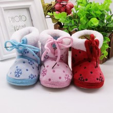 Winter Warm Baby Girls Sweet Newborn Princess Style Soft Soled Infant Toddler Kids Footwear First Walkers Shoes(China)