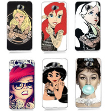 TPU Coloful Soft Tatto Alice Painted Case For Huawei Y5 ii Y5ii Cover/5A LYO-L21/Y6 II Compact A008(China)