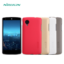 Original NILLKIN Super frosted Shield Matte Ultra-thin Case Cover for LG Nexus 5 with Free Film Fee shipping HD1(China)