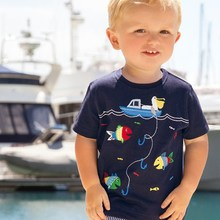 Buy 2017 Brand Boys T Shirt Fish Boys Tops Tee Kids Tops Designer Toddler Baby Boys Short Sleeve T Shirt Cotton Children Tops for $6.88 in AliExpress store