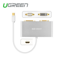 Ugreen Thunderbolt Mini DisplayPort  to HDMI VGA DVI Cable adapter premium display port to HDMI 3 in1 for Apple Macbook Pro Air