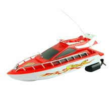 Christmas Gift New 2016 Fashion Powerful Plastic Remote Control Boats Speed Electric Toys Model Ship Sailing Children Game Kids