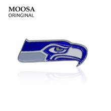 MOOSA New Arrival Animal Brooches Pins Unite States Bald Eagle with Enamel Plated for Women Men Jewelry Wedding Party Accessory(China)