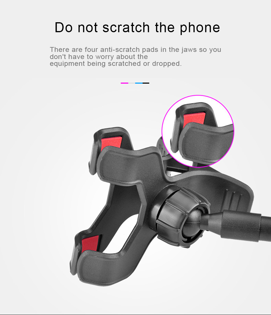 !ACCZEE Universal Long Arm Lazy BedDesktopNeck Cell Phone Stand Holder For iPhone 360 Degree Adjustable Rotate Hanging Bracket (6)