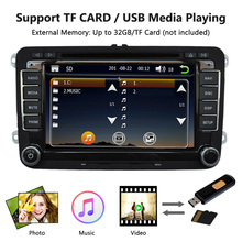 "Universal Car 7"" 1080P HD DVD Player GPS Navigation BT Car Radio 2 Din in Dash PC Stereo Head Unit for VW+Free Map+Free Card(China)"