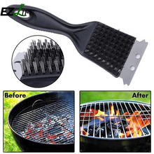 New Barbecue Accessories Stainless Steel BBQ Cleaning Brush Plastic Handle Churrasco Outdoor Grill Cleaner Cooking Tools ZH01329