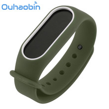 Buy Ouhaobin Replacement Silica Gel Wristband Band Strap Xiaomi Mi Band 2 Bracelet Oct 1 Dropshipping for $2.55 in AliExpress store