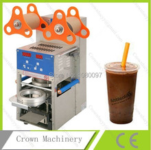 Stainless steel automatic plastic cup sealer sealing machine for milk tea/juice/bubble tea