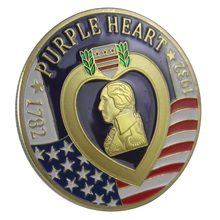 United States Military Purple Heart Gold Plated Challenge coin/Medal 1027#(China)