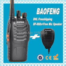 DHL freeshipp+BaoFeng BF-888S BF888S radio walkie talkie UHF 400-470MHz 16CH FM Transceiver CTCSS +microphone for baofeng bf888s(China)