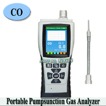 professional CO Portable PPM Gas analyzer Pump Suction Gas Detector Tester professional Carbon monoxide monitor in atmasphere