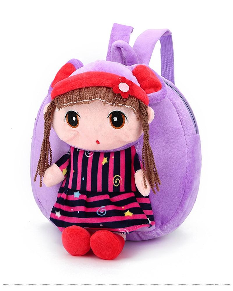 Kids Kindergarden Backpack Cartoon Plush Velvet Shoulder Bag Schoolbag Gift