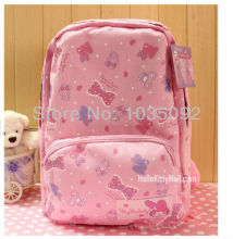 Children HELLO KITTY backpack  kids backpack Melody hat conjoined cotton cashmere bag student bag