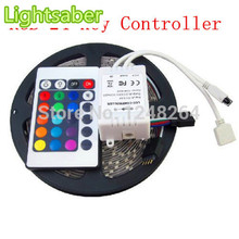 12V LED Strip 5050 SMD RGB Waterproof LED Light 60LEDs/M 5M ,only RGB/Changeable with 24Keys Controller Free Shipping