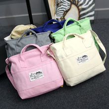 2017 Women Canvas Shoulder Bag High Quality Durable Handbag Holiday Beach Tote Solid Color Pink/Black/White Totes Shoulder Bags