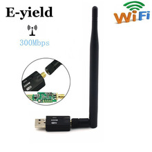 E-yield 300 Mbps USB Wifi Adapter USB 2.0 Wireless 2.4GHz Network Lan Card Antenna For Windows XP/Vista/7 Linux for Mac OS X(China)