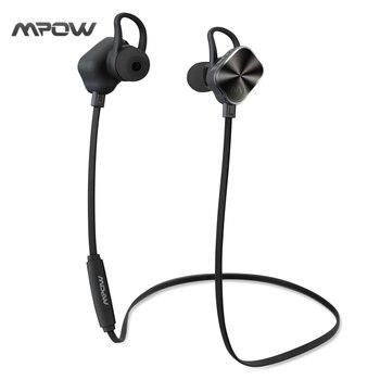 MBH26 Mpow Magnétique Écouteur Bluetooth 4.1 Casque Sans Fil Casque Sport Casque Mic Microphone pour iPhone Android Xiaomi