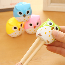 N36 4X Cute Owl Cartoon Kids Pencil Sharpener Papeleria Sharpener for Pencils Sacapuntas School Stationery Sacapuntas Lapiceros