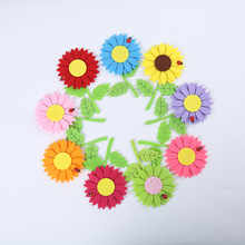 The new development of kindergarten sweet sun flower decorative wall stickers decorative painting wholesale manufacturers(China)