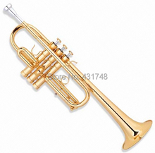C Tone Trumpet with Case and mouthpiece Brass Body Musical instruments Free shipping Factory Supply(China)