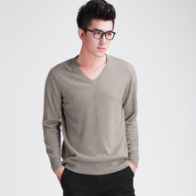 Fashion Designer Men Cashmere Sweaters Free Shipping New Brand V-Neck Pullovers shirts Cashmere and wool pullover male