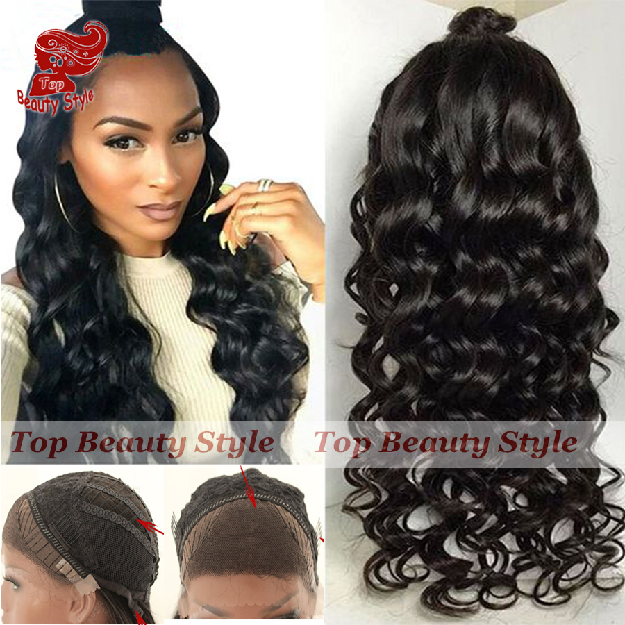 High Quality Loose Wave Synthetic Lace Front Wig Black Wigs With Baby Hair Heat Resistant Synthetic Hair Wigs For Black Women<br><br>Aliexpress