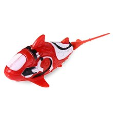 Cute Eco-friendly Plastic Battery Powered MIni Cartoon Electrical Shark Toy Water Swimmer Fish Toy Little Gift for Above 3Years(China)