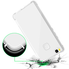 Letme Silicone Case For Huawei P9 Lite Clear Cover Brand Transparent Luxury Rubber Phone Bag Case For Huawei P9 Lite(China)