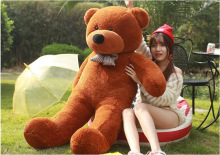 80cm TEDDY BEAR STUFFED LIGHT BROWN GIANT JUMBO