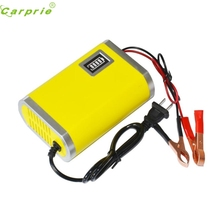 New Arrival Motorcycle Car Auto 12V 6A Battery Charger Intelligent Charging Machine Yellow jr22