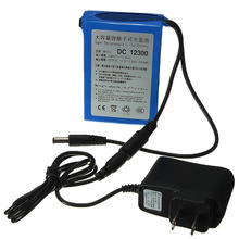 US Plug DC 12V 3000mAh DC12300 Portable Li-ion Rechargeable Polymer Power Battery Pack with AC Wall Charger(China)