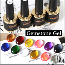 Fashion Translucent Candy Color Nail Gel Polish 7g Gemstone Gel Nail Art Tips UV LED Glass Gel Solvent Nails Polish(China)