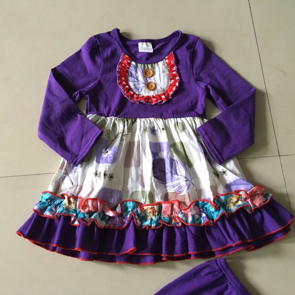 2017 Unique Feature Hot Summer and Autumn 100% cotton and Baby Girls Dress with special ruffles design For birthdays present<br>